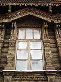 Fenster. Woodcarving Stockbild