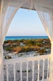 Fenster zum Meer Stockbilder