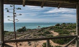 Fenster zum Meer Stockfotos
