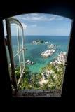 Fenster zum Paradies Stockfotografie