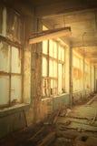 Fenster zur Verwüstung Stockfoto