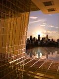 Fenster zur zukünftigen Dämmerung Stockbild