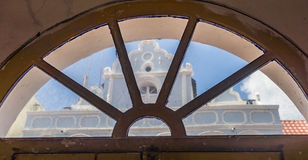 Fensteransicht - von Ansichten Altbauten Punda Curaçao Stockfoto
