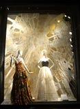 Fensteranzeige bei Bergdorf Goodman, NYC Stockbild