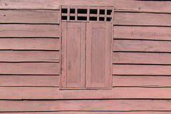 Fensterblockhaus alt Stockfoto