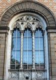 Fensterdesign von Odessa Philharmonic, Ukraine. Barocke Art Lizenzfreie Stockfotografie