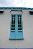 Fensterdetail bei Masjid Jamek Dato Bentara Luar in Batu Pahat, Johor, Malaysia Lizenzfreie Stockbilder