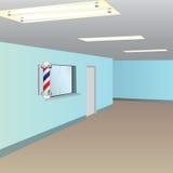 Fensterempfangsdamenfriseursalon Lizenzfreies Stockbild
