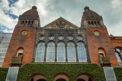 Fensterfassade der königlichen dänischen Bibliothek, Kopenhagen Lizenzfreies Stockfoto