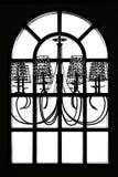 Fensterfeld und Leuchteset lizenzfreie abbildung