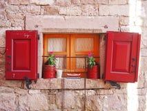 Fensterfensterladen Lizenzfreie Stockfotografie