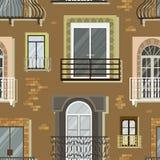 Fensterformikonen stellten Balkonmuster ein Lizenzfreie Stockfotografie