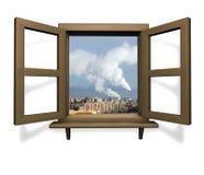 Fensterholz Lizenzfreies Stockfoto