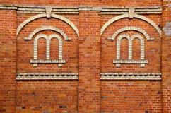 Fensternachahmung auf Wand. Stockbilder