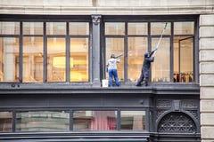 Fensterputzer in New York Lizenzfreie Stockfotos
