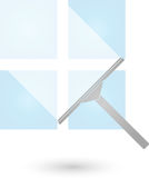 Fensterputzer- und Fenster-, Reinigungs- und Reinigungsfirmenlogo Stockfotos