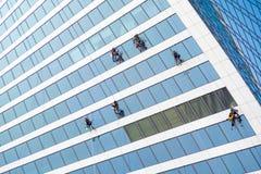 Fensterputzerarbeiten Stockfotos