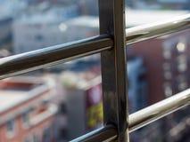 Fensterrahmen und Sonnenlichtgreller glanz Stockfotos