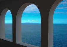 Fensterseeansicht lizenzfreies stockbild