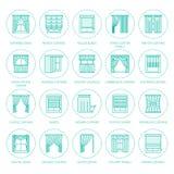 Fenstervorhänge, Schattenlinie Ikonen Verdunkelungsdekoration des verschiedenen Raumes, lambrequin, Swag, französischer Vorhang,  lizenzfreie abbildung