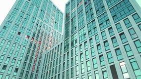 Fensterwolkenkratzer Geschäftslokal lizenzfreie stockfotos