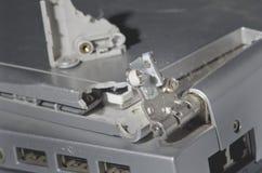 Fente cassée par ordinateur portable à part Photo stock
