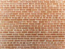 Fente dans un mur de briques rouge Image libre de droits
