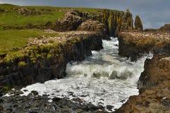 Fente de falaise Photo stock