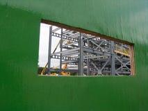 Fente de visionnement de chantier Images stock
