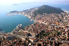 Fente en Croatie, vue aérienne Image stock