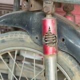 Fente rouillée d'amortisseur de cale de moto Image stock