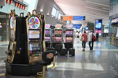 Fentes d'aéroport de Vegas Photographie stock libre de droits