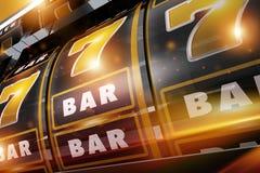 Fentes de casino de fièvre de l'or Photos stock