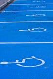 Fentes handicapées de stationnement Images libres de droits