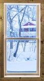 Fenêtre d'hiver Image libre de droits