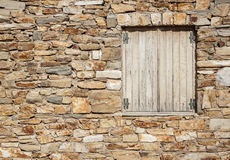 Fenêtre dans le mur Photographie stock