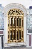 Fenêtre dans le palais de Topkapi Images stock