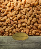 Fenugreek background with label Royalty Free Stock Photo