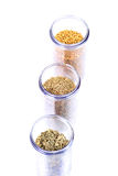 Fenugreek fennel and carom seeds Royalty Free Stock Image