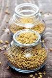 Fenugreek in a glass Stock Image