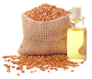 Fenugreek with oil Stock Photography