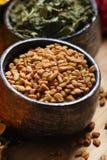 Fenugreek seeds stock photography