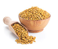 Fenugreek seeds isolated on white Royalty Free Stock Photography