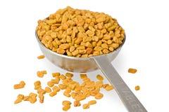 Fenugreek Seeds in Spoon Stock Photo