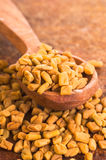 Fenugreek Seeds in spoon Stock Photography