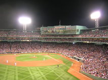Fenway. A game at Boston's Fenway Park stock photo