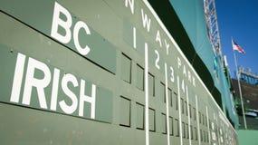 Fenway BC绿色妖怪对爱尔兰三叶草系列 库存照片