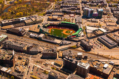 Fenway Park aerial royalty free stock image