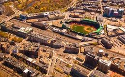 Fenway Park Antenne Stockbild