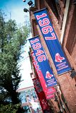 Fenway Park Banners. Historic Fenway Park, Downtown, Boston, MA.  Home of the Boston Red Sox Stock Image